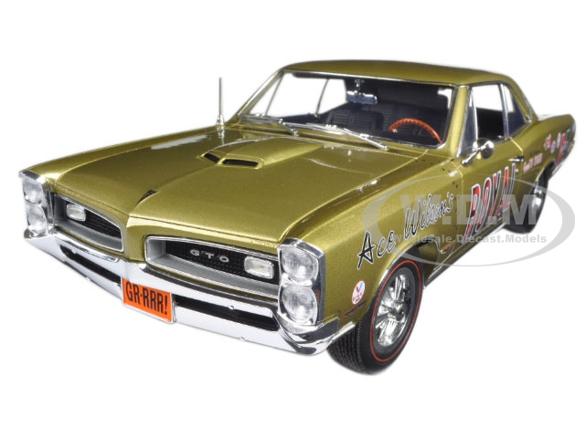 Ace Wilsons Royal 1966 Pontiac Gto Tiger Drag Car Copper Limited Edition To 636pcs 1/18 Diecast Model Car By Acme