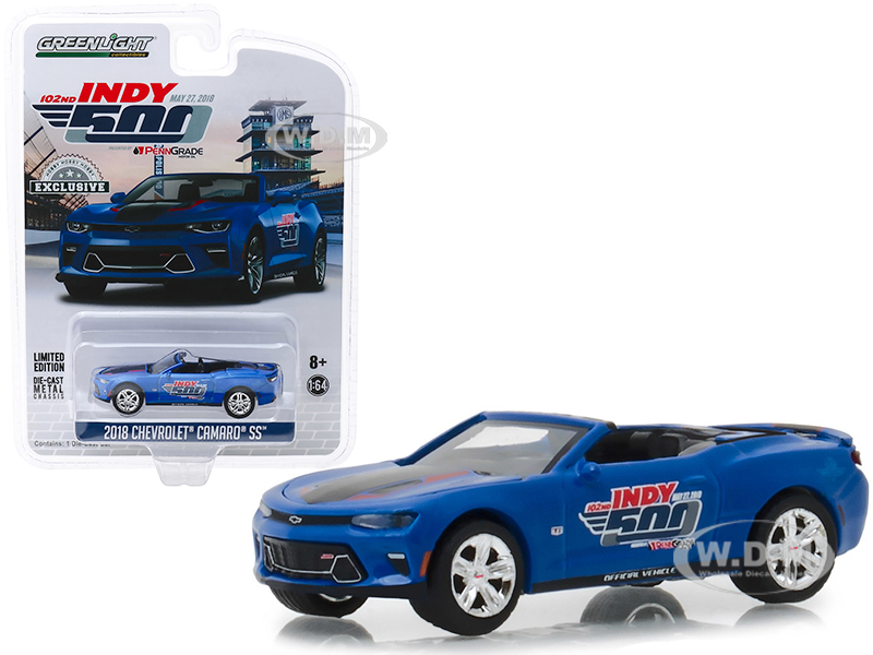 2018_Chevrolet_Camaro_SS_Convertible_Blue_102nd_Indy_500_Presented_by_PennGrade_Motor_Oil_500_Festival_Event_Car__Hobby_Exclusive_164_Diecast_Mo