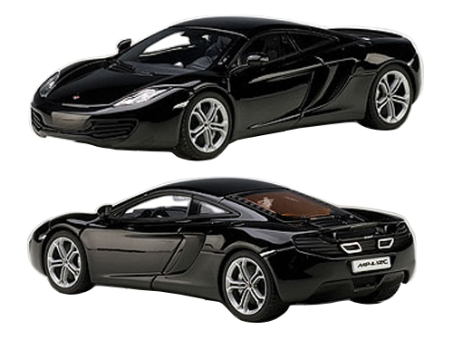 Mclaren Mp4-12c Sapphire Black 1/43 Diecast Car Model By Autoart