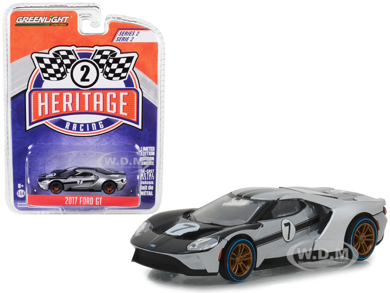 2017_Ford_GT_7_Tribute_to_1966_Ford_GT40_Mk_II_Silver_and_Black_Ford_Racing_Heritage_Series_2_164_Diecast_Model_Car_by_Greenlight