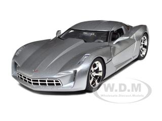 2009 Chevrolet Corvette Stingray Concept Silver 1/18 Diecast Car Model by Jada