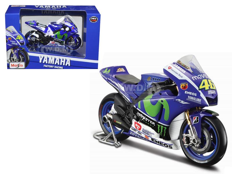 Yamaha YZR-M1 #46 2015 Moto GP Valentino Rossi Motorcycle Model 1/18 by Maisto  34589VR