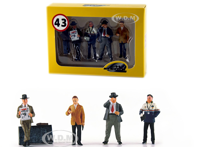 Four_Team_Managers_Set_of_4_Figurines_for_143_Diecast_Model_Cars_by_Le_Mans_Miniatures