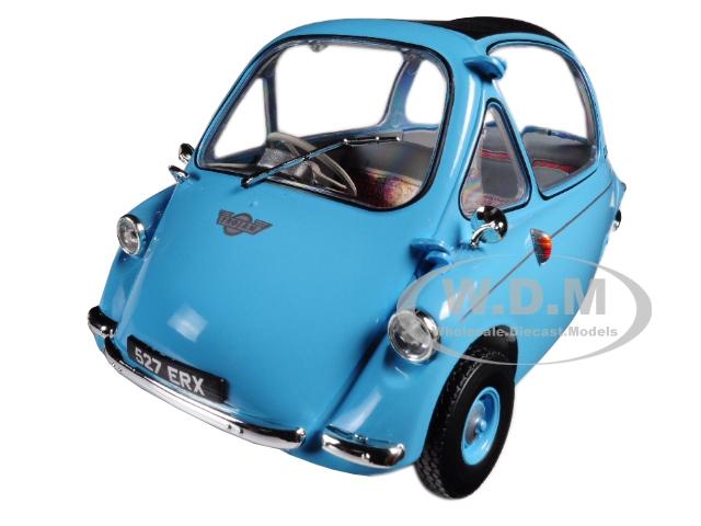 Heinkel Trojan RHD Bubble Car Light Blue 1/18 Diecast Model Car by Oxford Diecast