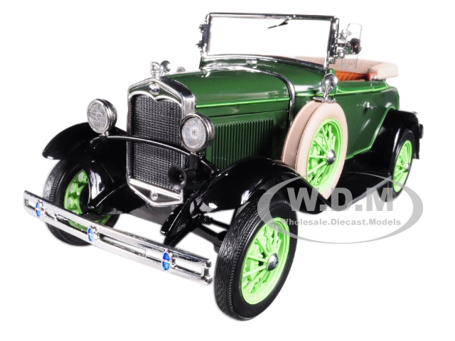 1931_Ford_Model_A_Roadster_Brewster_Green_118_Diecast_Model_Car_by_Sunstar