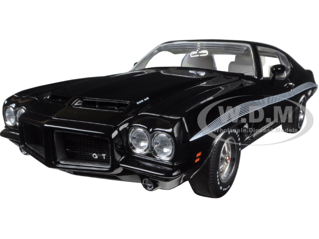 1972 Pontiac Gto Lemans Starlight Black Limited Edition To 554pcs 1/18 Diecast Model Car By Acme