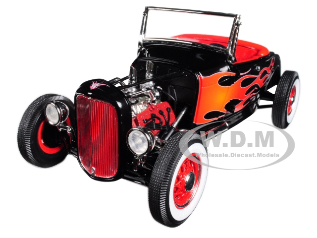 1932 Ford Hot Rod Black with Flames