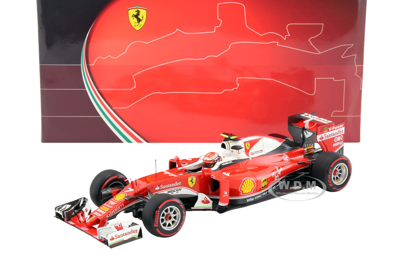 Ferrari Sf16-h F1 Italy Gp 2016 Kimi Raikkonen #7 1/18 Model Car By Bbr
