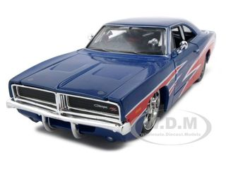 1969 Dodge Charger R/T Red/White/Blue 1/25 Diecast Model Car by Maisto