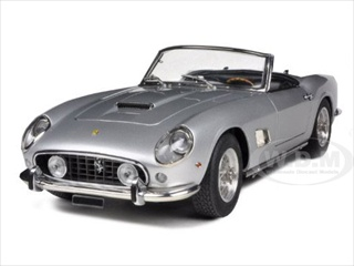 1961 Ferrari 250 GT SWB California Spyder Silver 1/18 Diecast Car Model by CMC