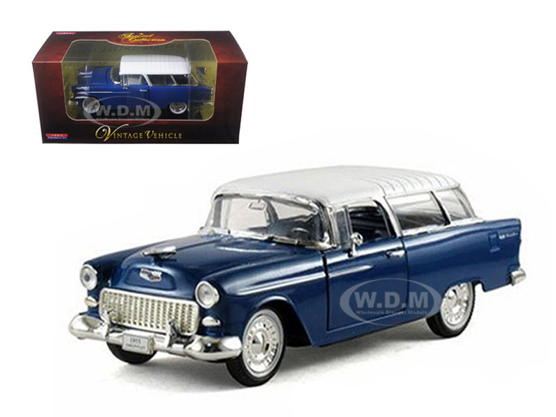 1955 Chevrolet Nomad Blue 1/32 Diecast Car Model By Arko Products