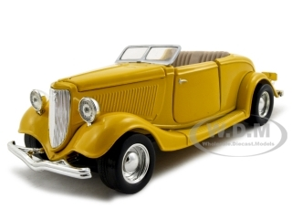 1934_Ford_Coupe_Yellow_124_Diecast_Car_Model_by_Motormax