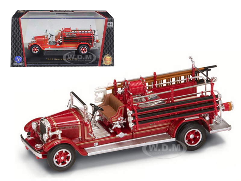 Image Misc. bztntsiexkui Road Signature 43005r Info 1932 Buffalo Type 50 Fire Engine Red 1/43 Diecast Car Model by Road Signature Fire Engine Models