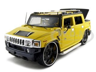"""Hummer H2 SUT Concept Yellow """"Playerz"""" 1/18 Diecast Model Car by Maisto"""