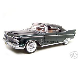 1961 Chrysler Imperial Crown Green 1/18 Diecast Model Car by Road Signature
