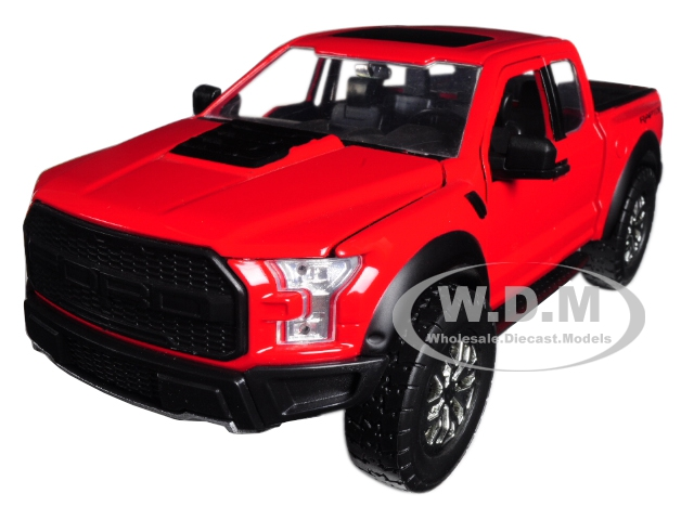 2017_Ford_F150_Raptor_Pickup_Truck_Red_124_Diecast_Model_Car_by_Jada