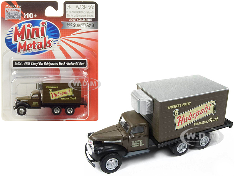 19411946_Chevrolet_Box_Reefer_Refrigerated_Truck_Hudepohl_Beer_Brown_187_HO_Scale_Model_by_Classic_Metal_Works