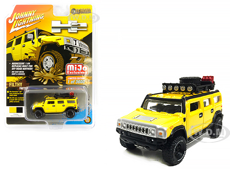 Hummer H2 Wagon with Roof Rack and Accessories Yellow