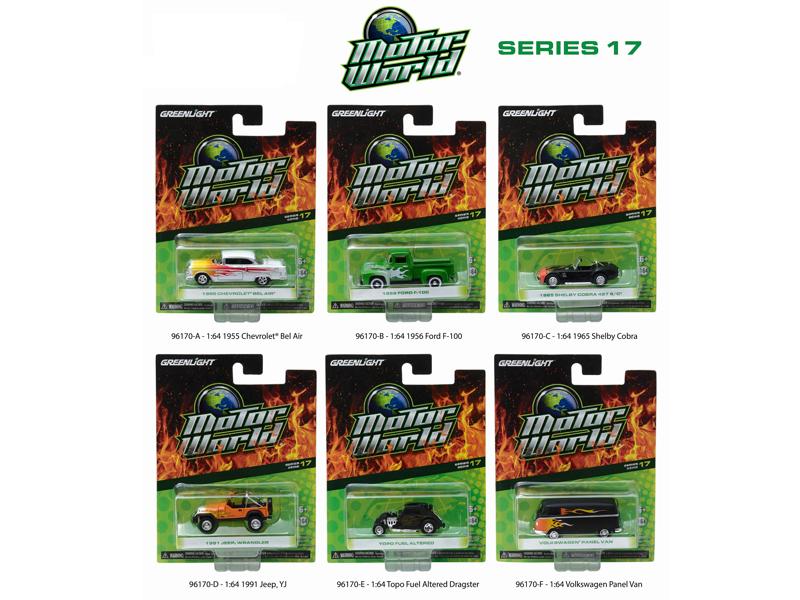 Motor World Series 17 6pc Diecast Car Set 1/64 Diecast Model Cars by Greenlight
