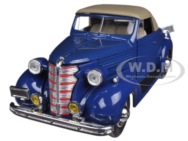 1938 Chevrolet Master Convertible Blue 1/32 Diecast Model Car by New Ray NR55043