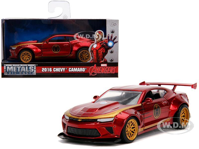 2016_Chevrolet_Camaro_Iron_Man_Theme_Marvel_Series_132_Diecast_Model_Car_by_Jada