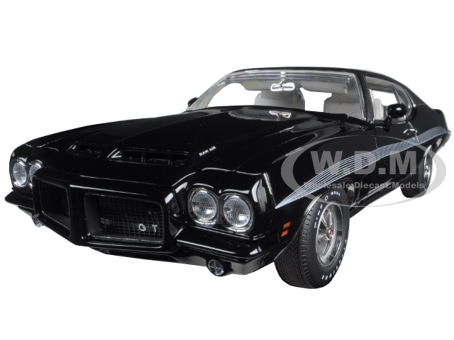 1972 Pontiac Gto Lemans Starlight Black With Vinyl Top Dealer Exclusive Limited Edition To 252pcs 1/18 Diecast Model Car By Acme