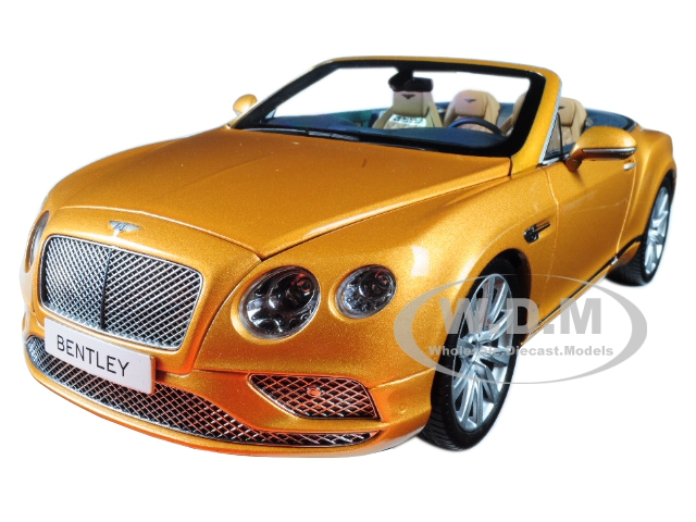 2016 Bentley Continental GT Convertible LHD Sunburst Gold 1/18 Diecast Model Car by Paragon (PA98232) photo