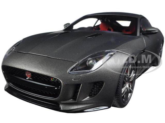 2015 Jaguar F-Type R Coupe Matt Grey 1/18 Model Car by Autoart