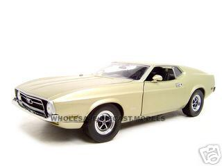 1971 Ford Mustang Sportsroof Gray Gold 1/18 Diecast Car Model by Sunstar