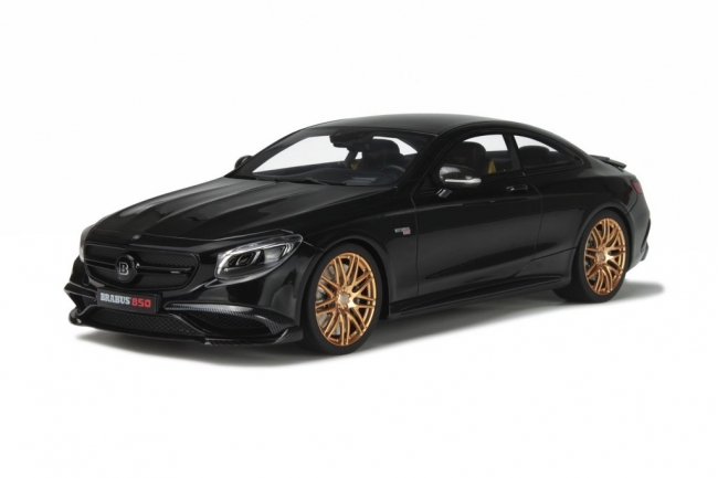 Mercedes S63 Coupe Brabus 850 Black Limited Edition to 1500pcs 1/18 Model Car by GT Spirit