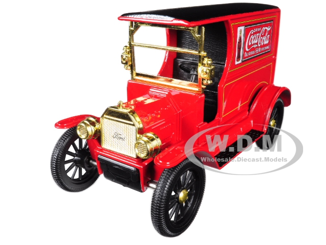 1917_Ford_Model_T_Cargo_Van_CocaCola_Red_with_Black_Top_124_Diecast_Model_Car_by_Motorcity_Classics
