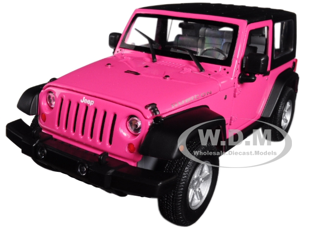 2007 Jeep Wrangler Pink 1/24 - 1/27 Diecast Model Car By Welly