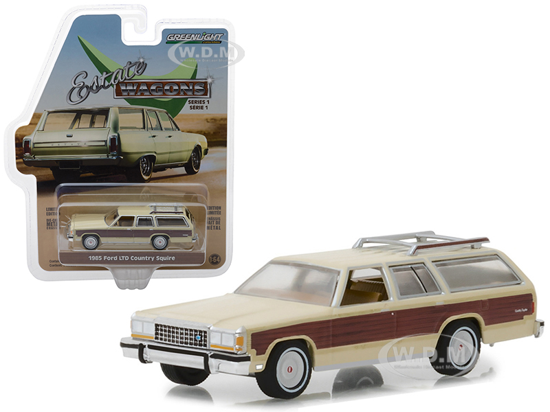 1985 Ford LTD Country Squire with Roof Rack Cream with Wood Paneling