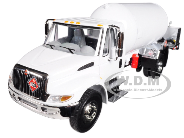 International DuraStar with Propane Body White 1/34 Diecast Model by First Gear 10-4059