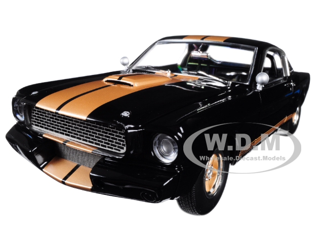 1966_Custom_Ford_Shelby_Mustang_GT350H_Black_with_Gold_Stripes_Limited_Edition_to_540_pieces_Worldwide_118_Diecast_Model_Car_by_Acme
