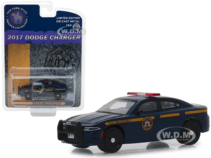 2017_Dodge_Charger_New_York_State_Trooper_Foundation_Police_Car_Dark_Blue_Hobby_Exclusive_164_Diecast_Model_Car_by_Greenlight