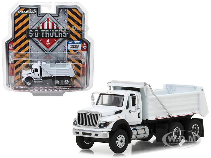 2018_International_WorkStar_Construction_Dump_Truck_White_SD_Trucks_Series_4_164_Diecast_Model_by_Greenlight