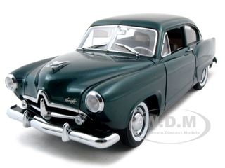 1951-kaiser-henry-j-with-trunk-cape-verde-green-metallic-platinum-edition-118-diecast-car-model-by-sunsta
