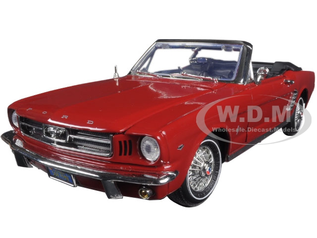 1964_12_Ford_Mustang_Convertible_Red_Timeless_Classics_118_Diecast_Model_Car_by_Motormax