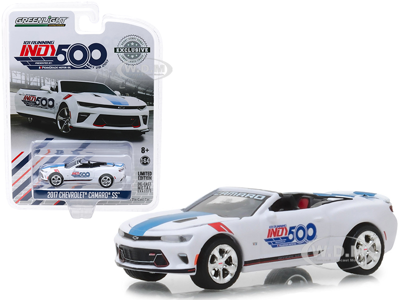 2017_Chevrolet_Camaro_SS_Convertible_White_101_Running_Indy_500_Presented_by_PennGrade_Motor_Oil_500_Festival_Event_Car_Hobby_Exclusive_164_Diec