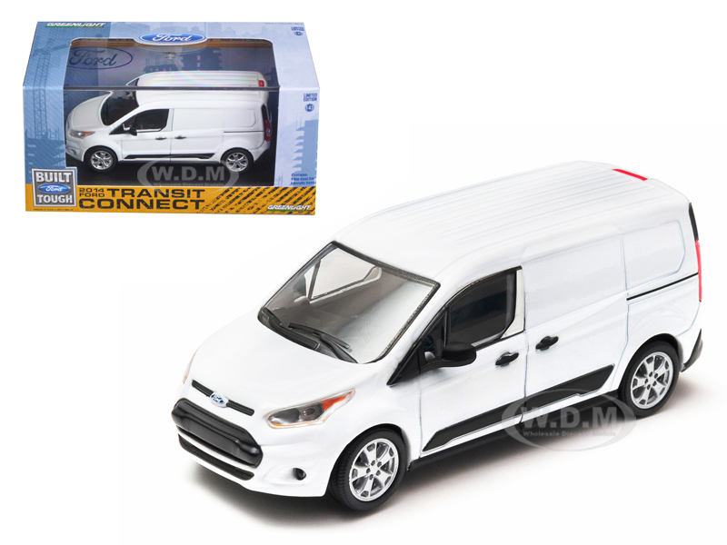 2014 Ford Transit Connect (V408) White 1/43 Diecast Car Model by Greenlight