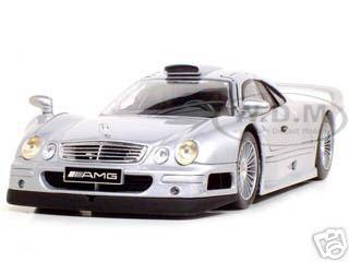 Mercedes CLK GTR Street Silver 1/18 Diecast Model Car by Maisto