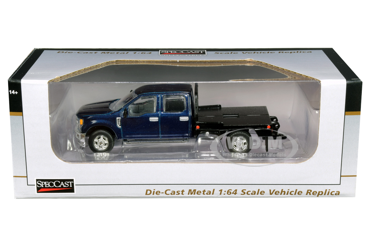 Ford_F250_Truck_with_Flatbed_Metallic_Blue_164_Diecast_Model_Car_by_SpecCast