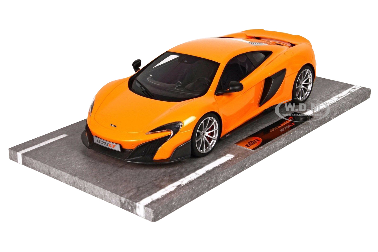 Mclaren 675lt Long Tail Orange Numbered Limited Edition To 60 Pieces Worldwide 1/18 Model Car By Bbr