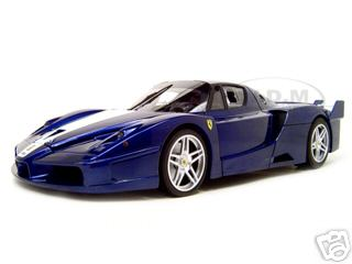 Ferrari FXX Elite Edition Diecast Model Dark Blue 1/18 Diecast Model Car by Hotwheels