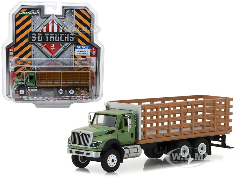 2018_International_WorkStar_Platform_Stake_Truck_with_Wood_Effect_SD_Trucks_Series_4_164_Diecast_Model_by_Greenlight