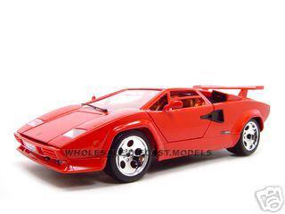 Lamborghini Countach 5000 Red 1/18 Diecast Model Car by Bburago