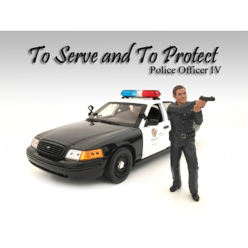 Police Officer IV Figurine for 1/24 Scale Models by American Diorama