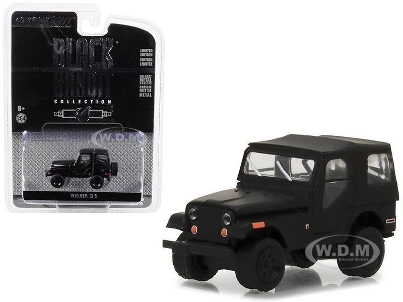 1970_Jeep_CJ5_Black_Bandit_Series_19_164_Diecast_Model_Car_by_Greenlight