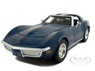 1970 Chevrolet Corvette Blue 1/24 Diecast Model Car by Maisto